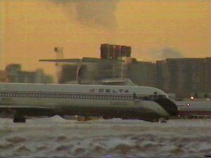 雪のナショナル空港